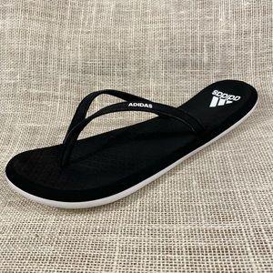 Women's adidas flip flops black size 9
